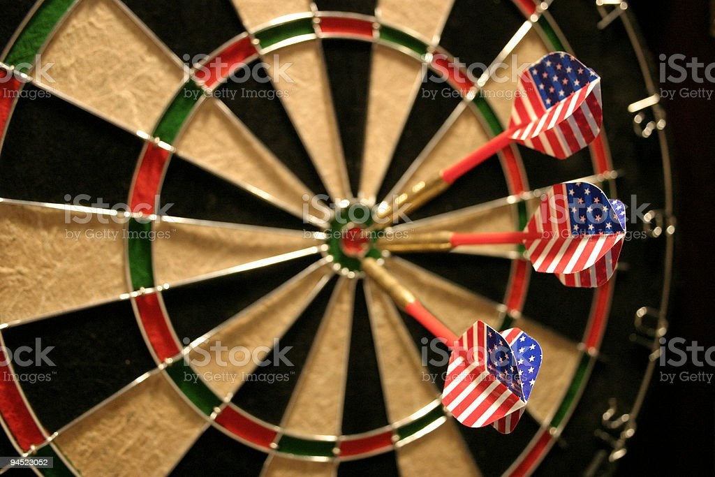 US Hits The Target royalty-free stock photo