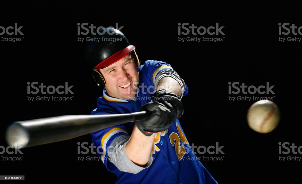 Hitting a Baseball royalty-free stock photo