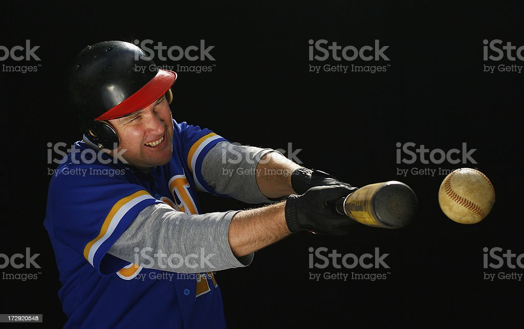 Hitting a Baseball stock photo