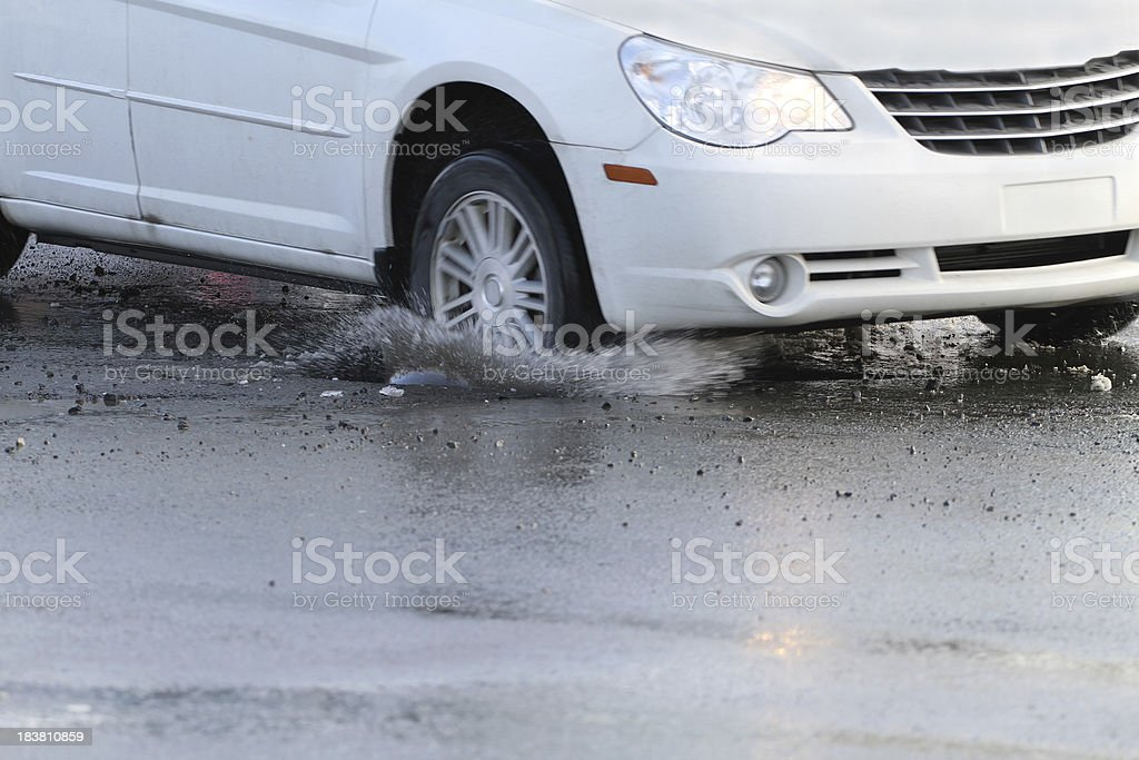 Hitting A Pothole stock photo