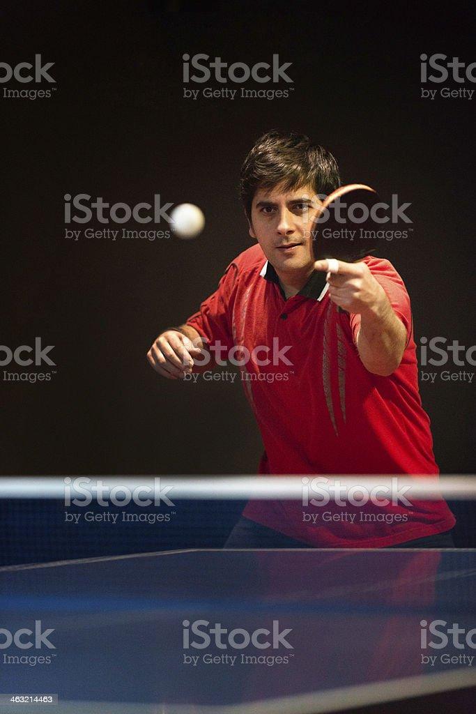 Hitting back ping pong ball royalty-free stock photo