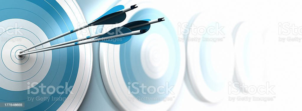 hitting objectives, business strategy stock photo