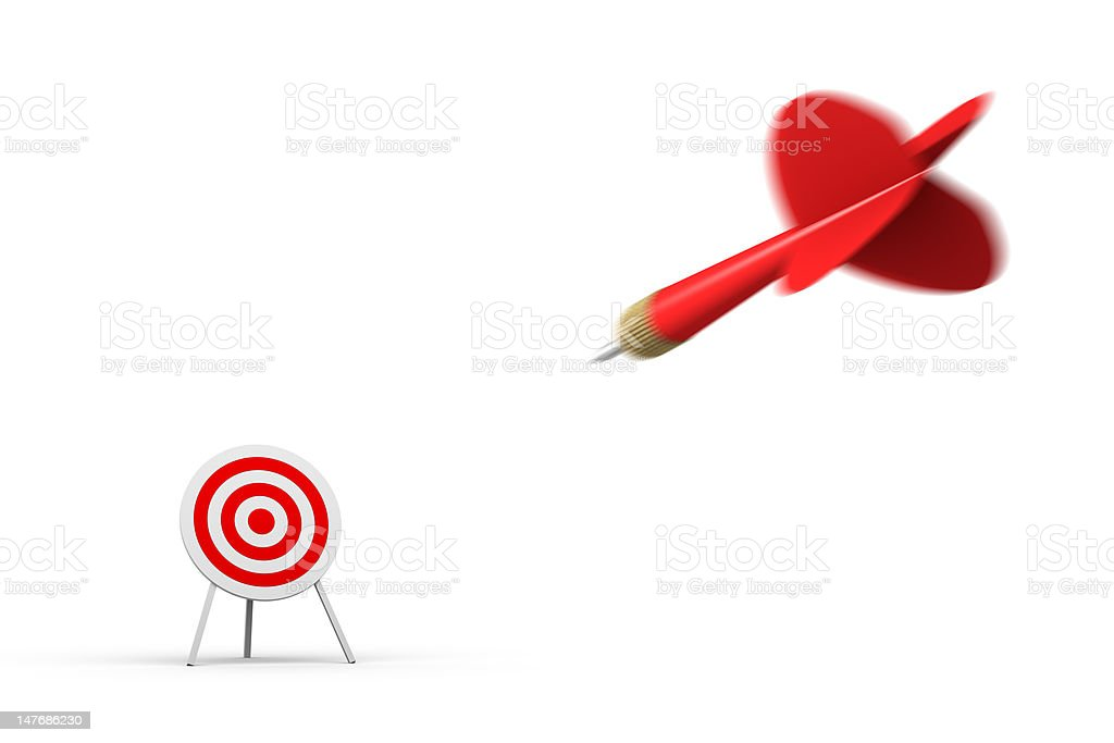 Hitting Target (isolated) royalty-free stock photo