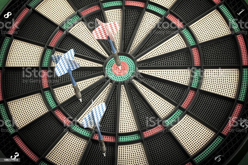 Hitting Target royalty-free stock photo