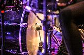 Hitting the bass drum