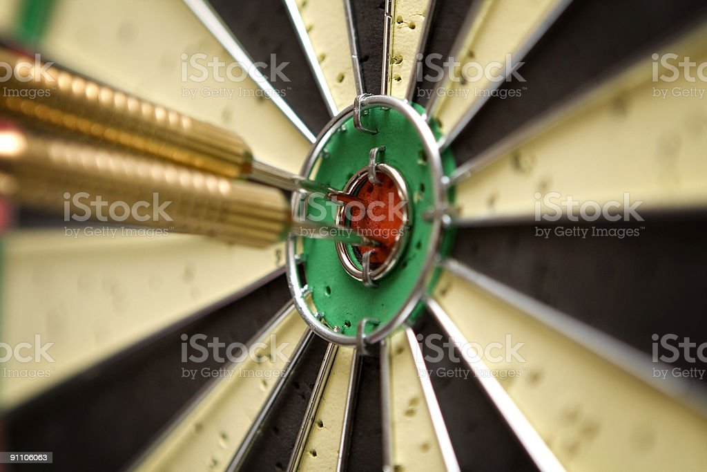 Hitting the Bull's eye royalty-free stock photo