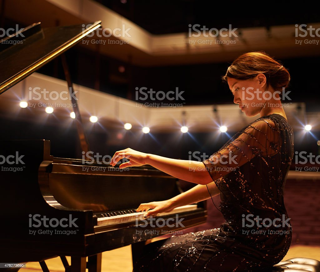 Hitting the right notes stock photo