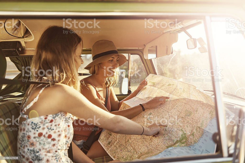 Hitting the road stock photo