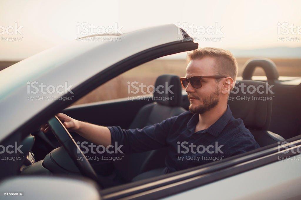 Hitting The Road stock photo