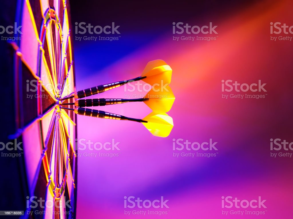 Hitting the Target in Darts royalty-free stock photo