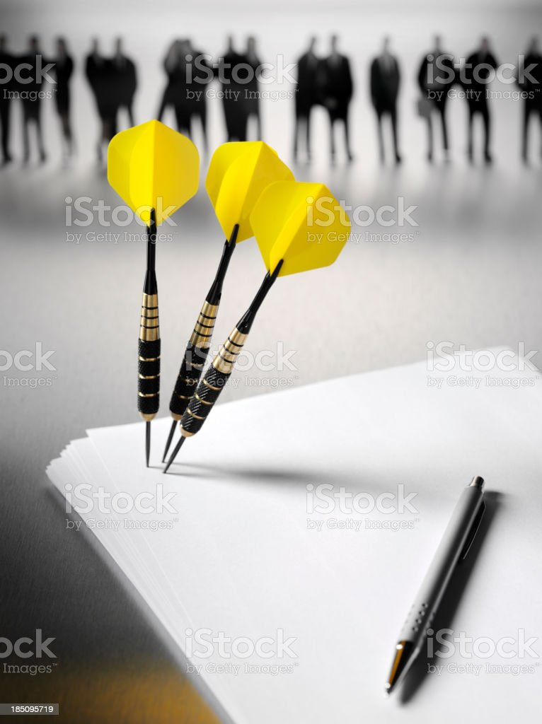 Hitting the Target on Paper stock photo