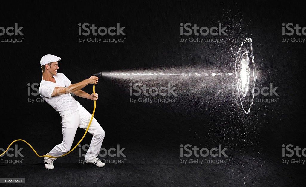 Hitting the target stock photo
