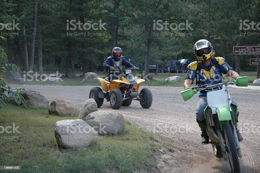 Hitting the Trails royalty-free stock photo