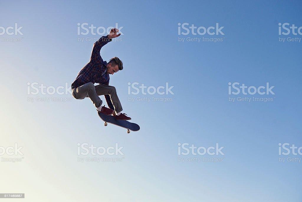 Hitting those heights stock photo
