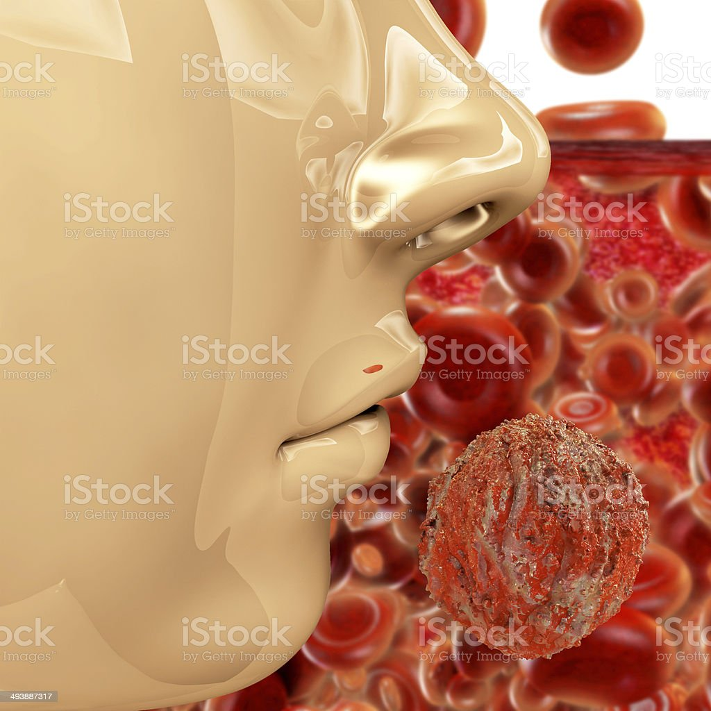 Hiv Virus - 3d rendered illustration royalty-free stock photo