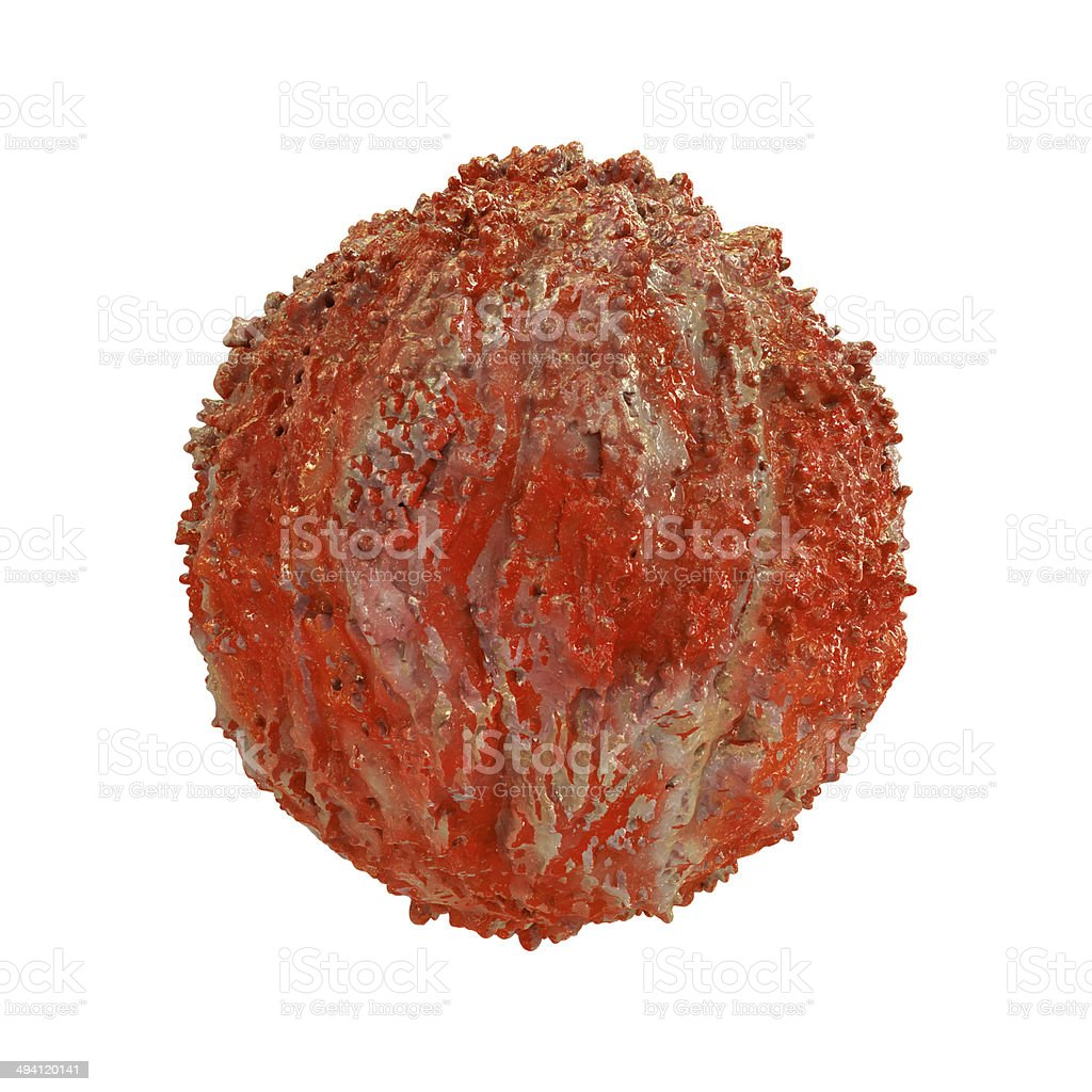 Hiv Virus - isolated 3d rendered illustration royalty-free stock photo
