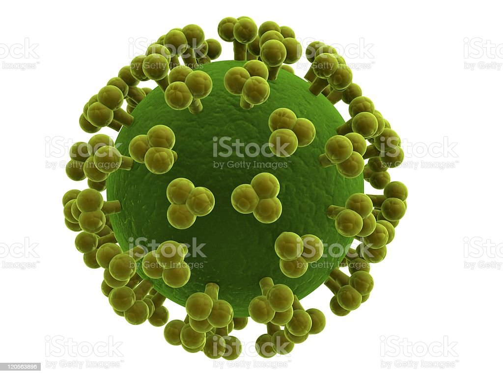 hiv virus royalty-free stock photo