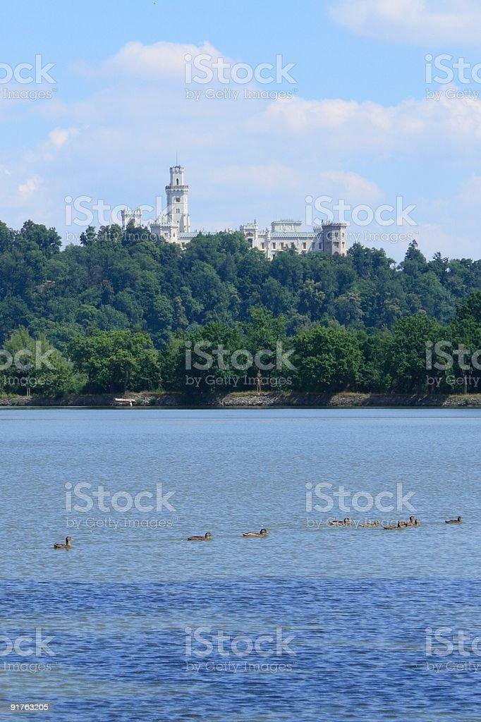 Hluboká castle royalty-free stock photo