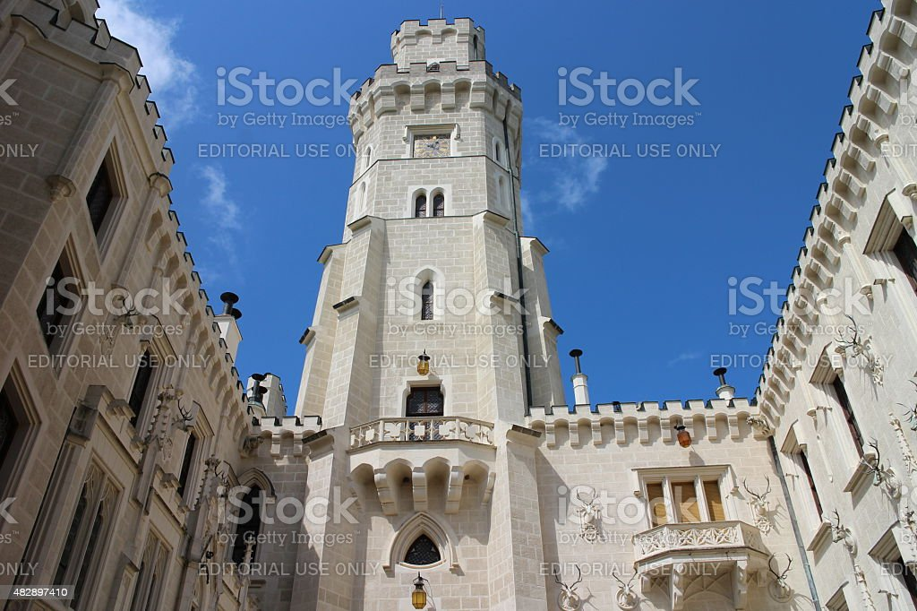 Hluboka Castle Architecture Details stock photo