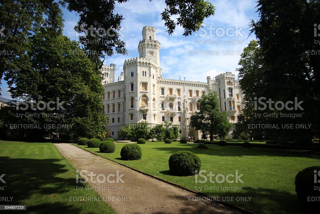 Hluboka Castle garden stock photo