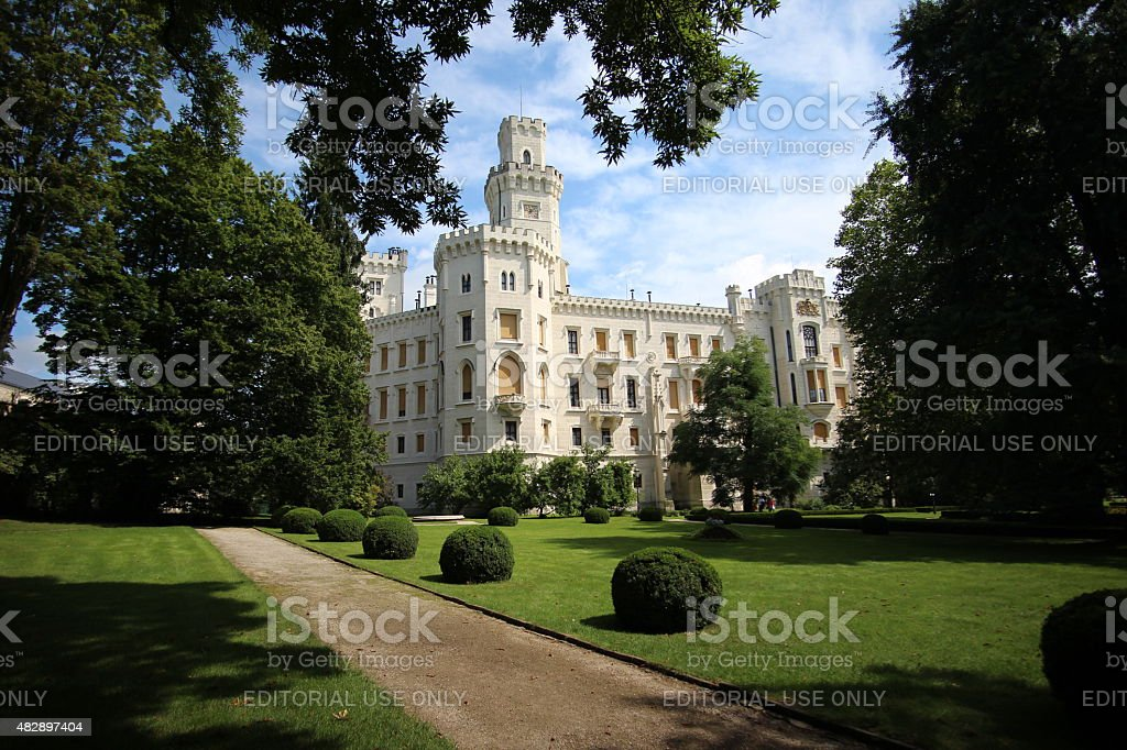 Hluboka Castle stock photo