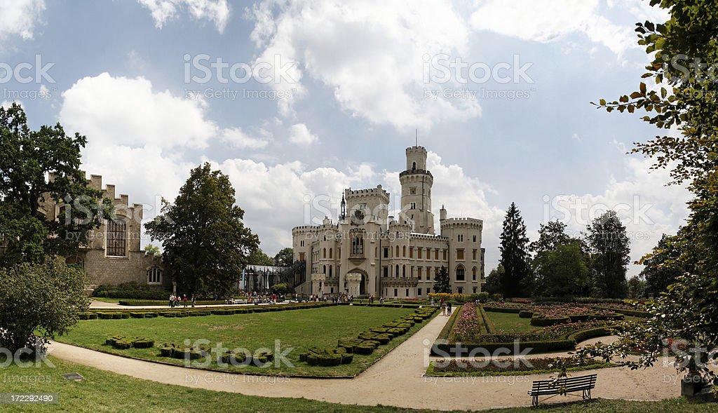 Hluboka chateau panorama royalty-free stock photo