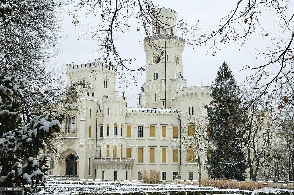 Hluboka nad Vltavou chateau, Czech Republic royalty-free stock photo