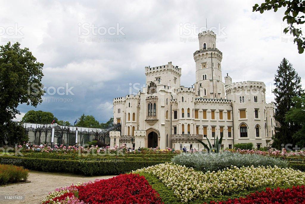 Hlyboka nad vltavou castle stock photo