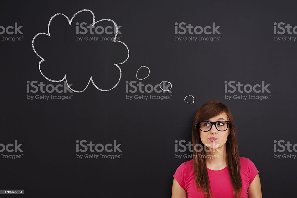 Hmm... It can be interesting royalty-free stock photo