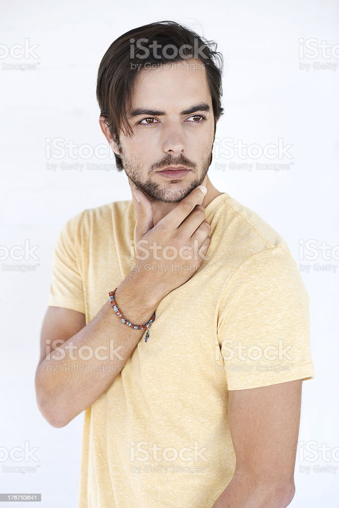 Hmm, what should I do stock photo