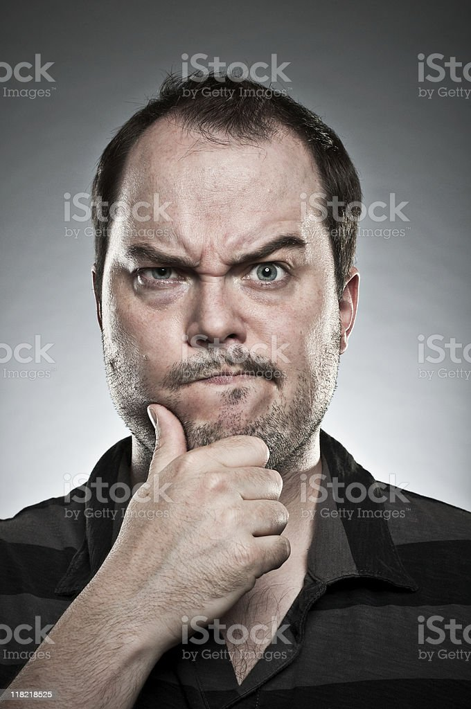 Hmmm Face royalty-free stock photo
