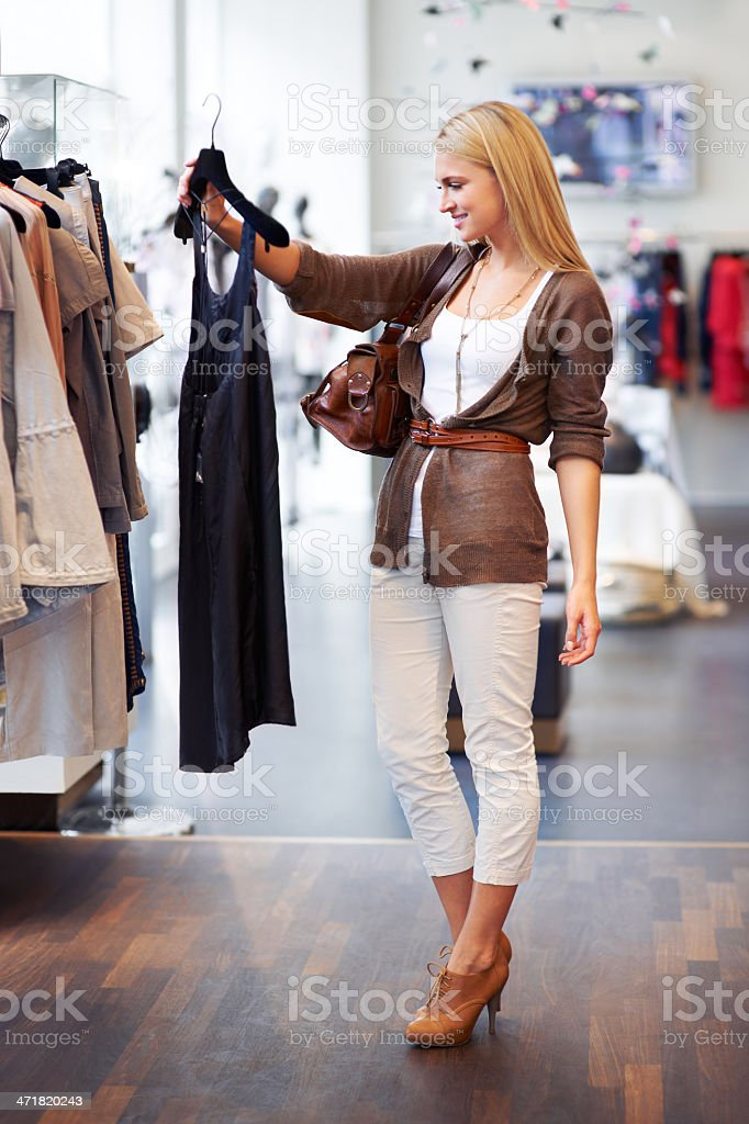Hmmm, this will go great with my new shoes... royalty-free stock photo