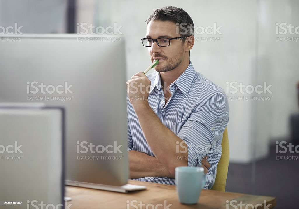 Hmmm... Where to start? stock photo