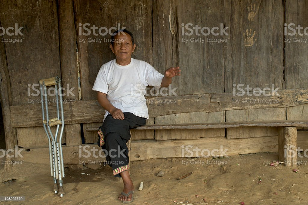 Hmong Amputee royalty-free stock photo