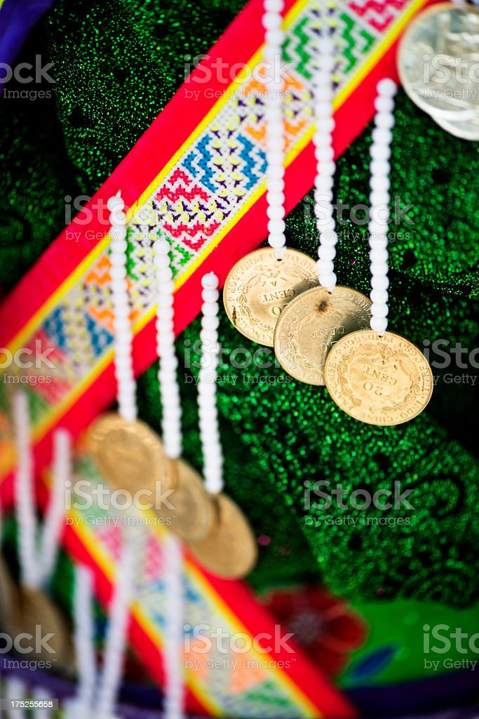 Hmong Costume Detail royalty-free stock photo