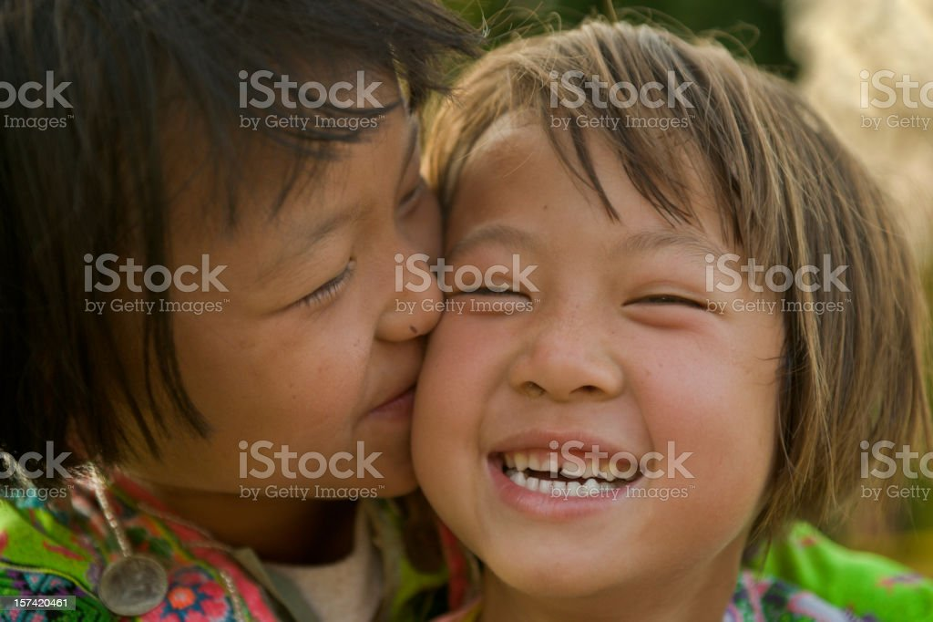 Hmong Hill Tribe Girls royalty-free stock photo