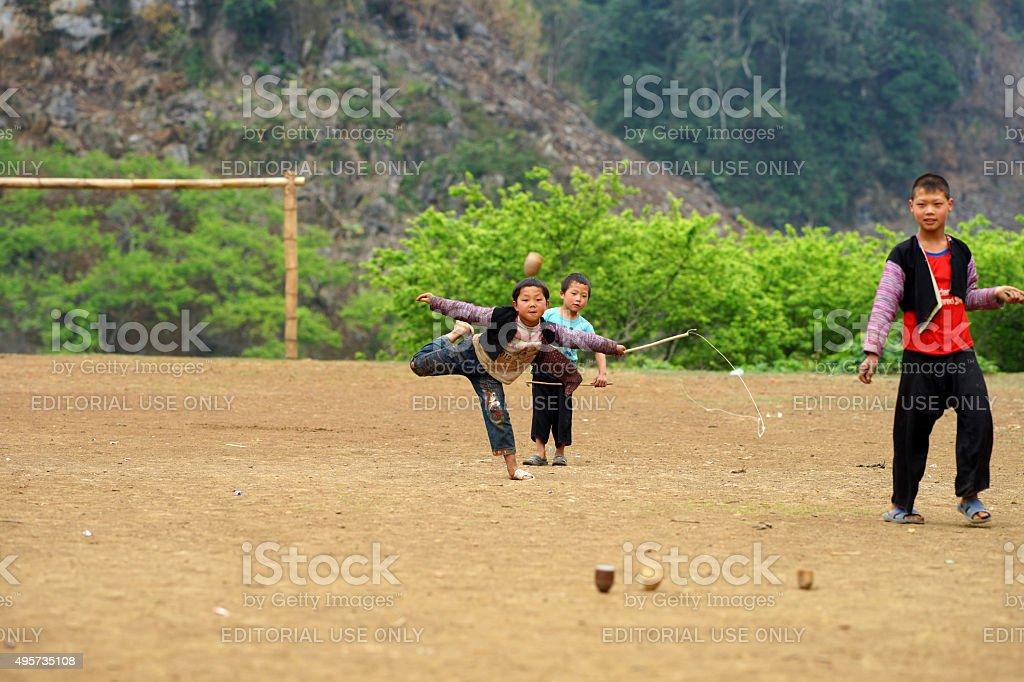 Hmong little children stock photo