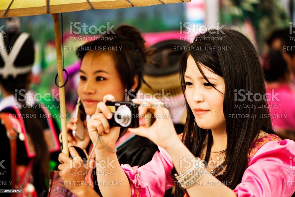 Hmong Photographer royalty-free stock photo