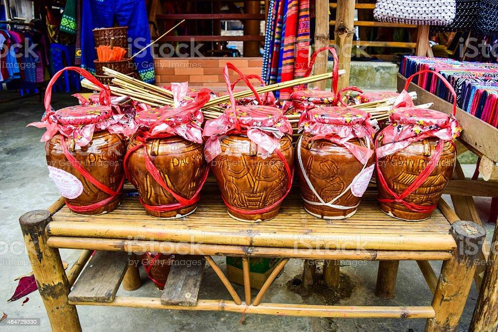 Hmong wine Mai Chau, Viet nam stock photo