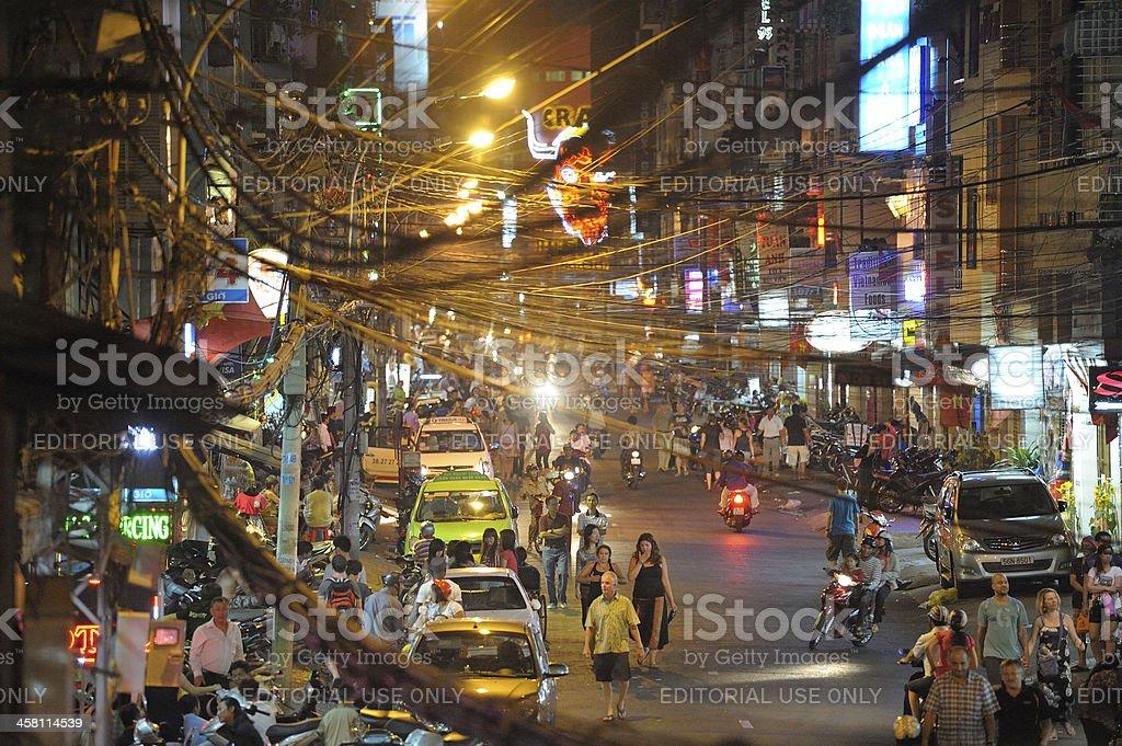 Ho Chi Minh by night stock photo