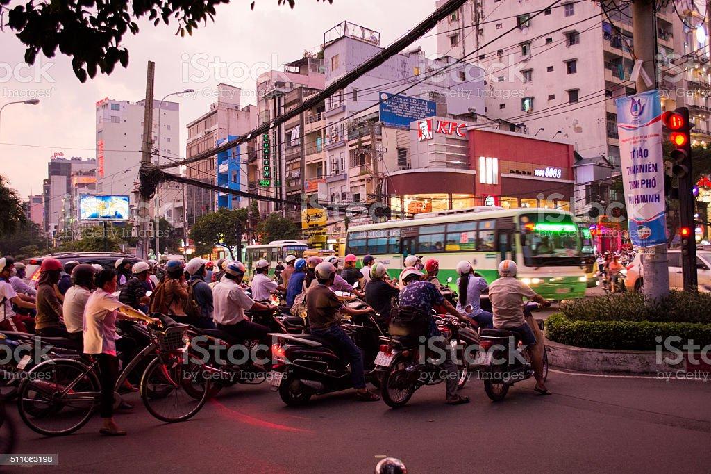 Ho Chi Minh City bike stock photo
