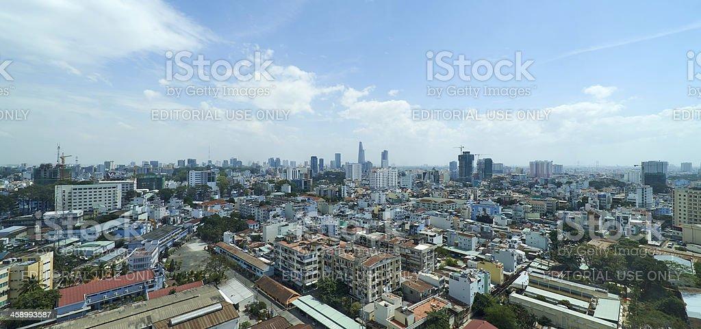 Ho Chi Minh City Cityscape royalty-free stock photo