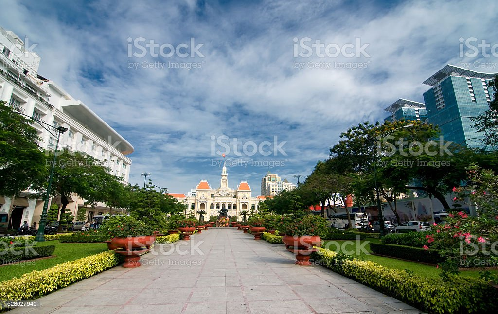 Ho Chi Minh City Hall, Ho Chi Minh City, Vietnam stock photo