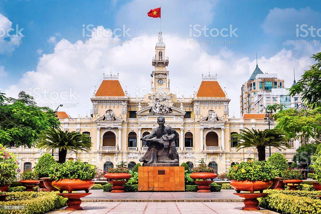 Ho Chi Minh City Hall in Ho Chi Minh City, Vietnam stock photo