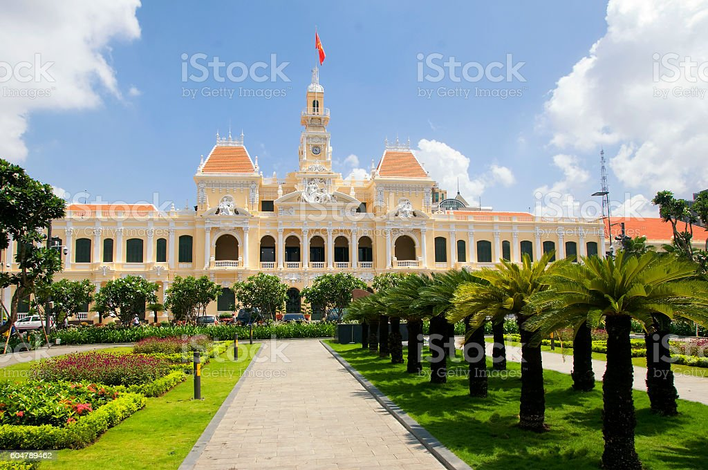 Ho Chi Minh City Hall in Saigon, Vietnam stock photo