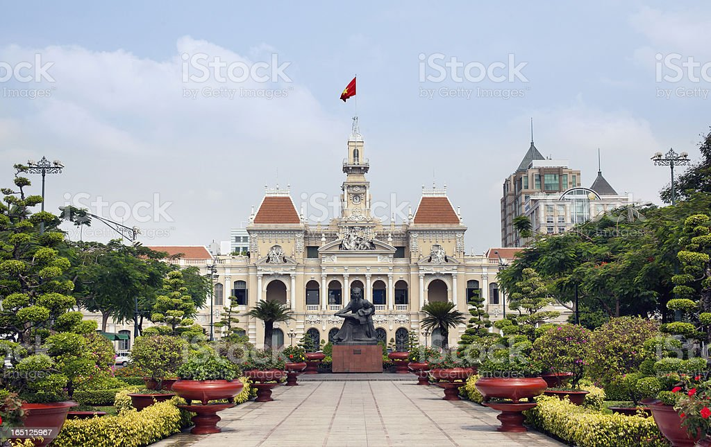 Ho Chi Minh City Hall located in the country of Vietnam  stock photo