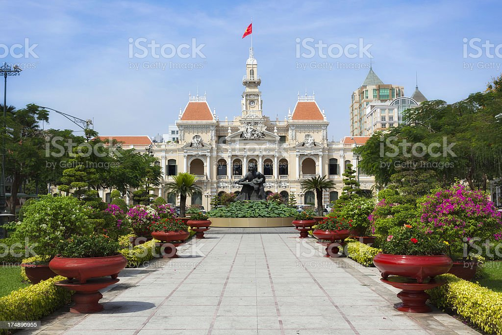 Ho Chi Minh City Hall royalty-free stock photo