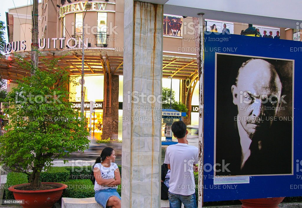 Ho Chi Minh City - Lenin and Louis Vuitton stock photo