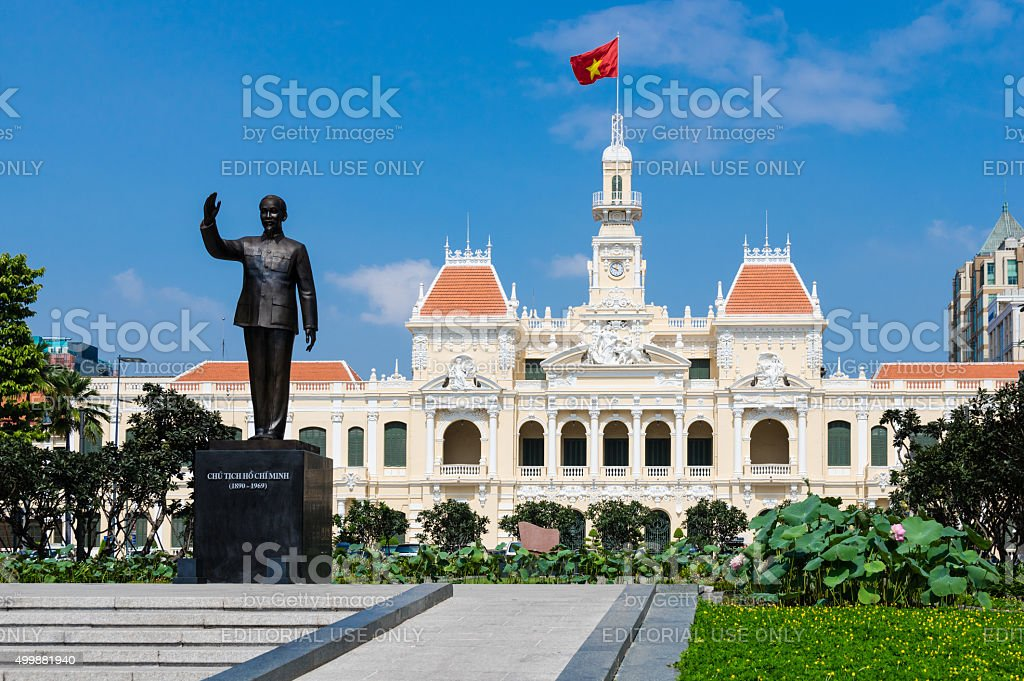 Ho Chi Minh city People's Committee in the morning stock photo