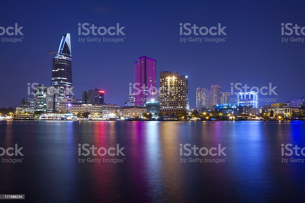 Ho Chi Minh City skyline stock photo